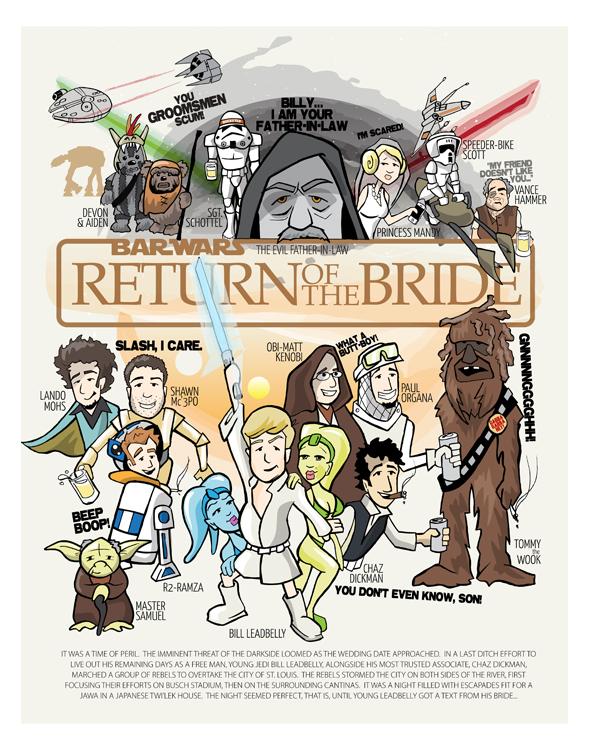 Star Wars Poster - Groomsmen gift